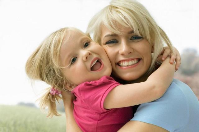 вместе мама и дочка