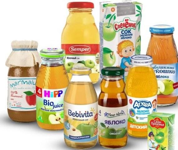 Прикорм в 11 и 12 месяцев, фруктовый сок