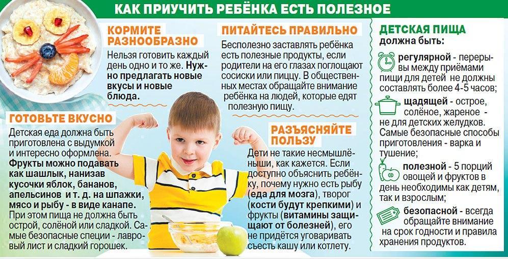 ребенок пошел в садик  как приучить есть детскую пищу