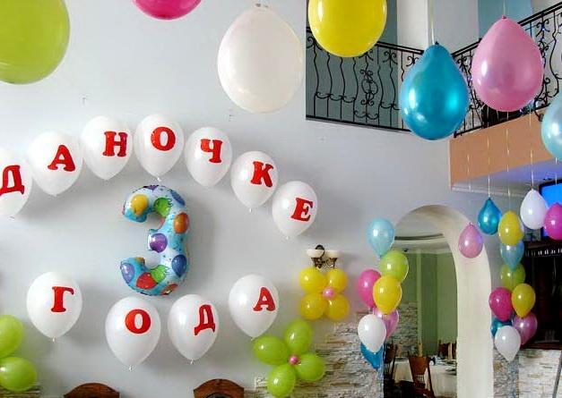 как украсить стену шарами