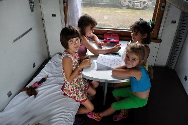 Развлечения в поезде для детей