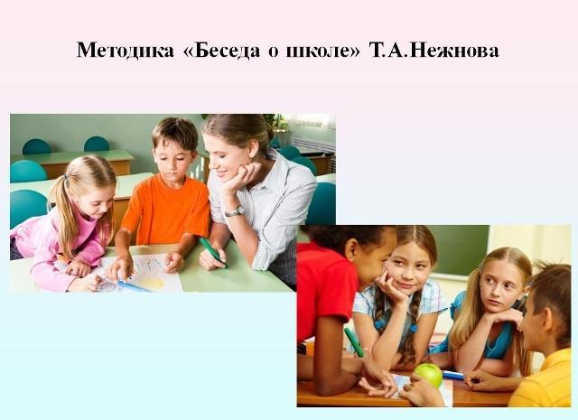 Методика «Беседа о школе» Т.А.Нежнова.