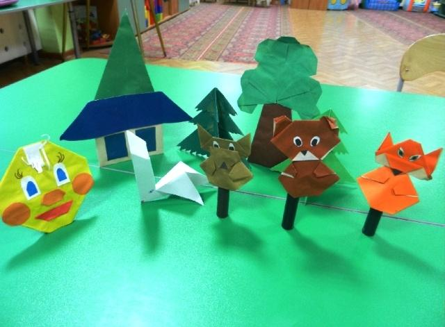 Складывание из бумаги оригами