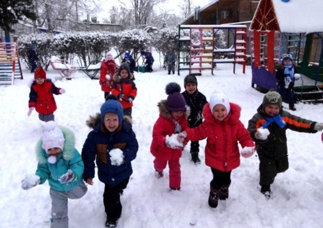 прогулки зимой в средней группе