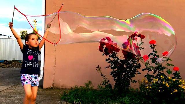 Как сделать большие пузыри для детского праздника