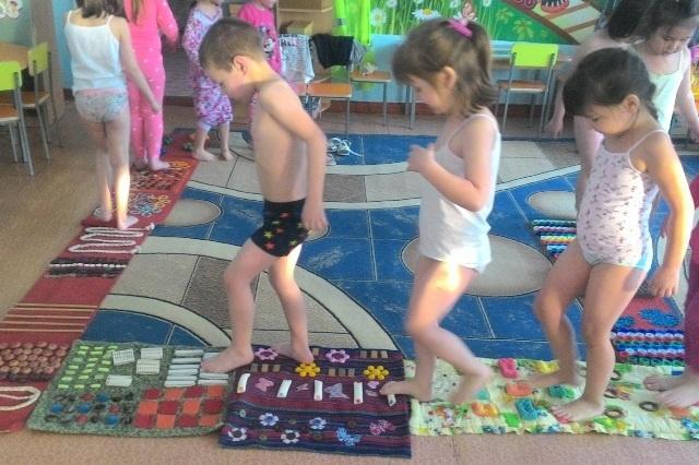 Как разметить дорожку здоровья для детского сада