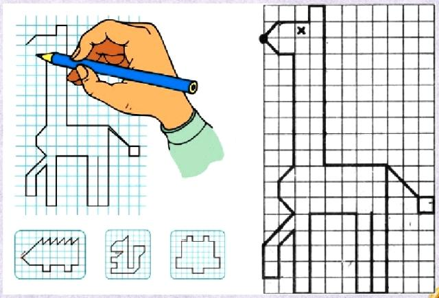 Графические диктанты для дошкольников по клеточкам