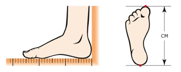 Размер обуви таблица для детей по возрасту