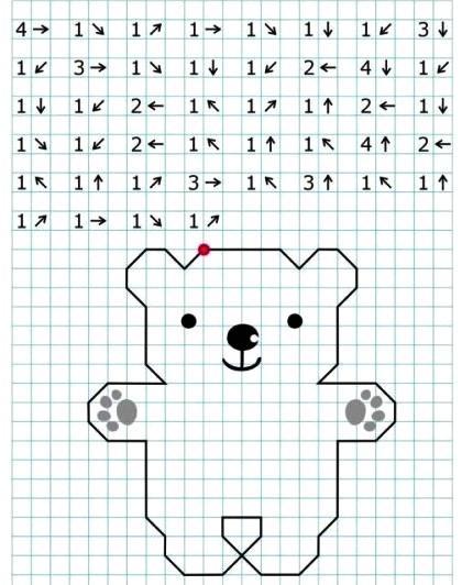 Графический диктант медведь