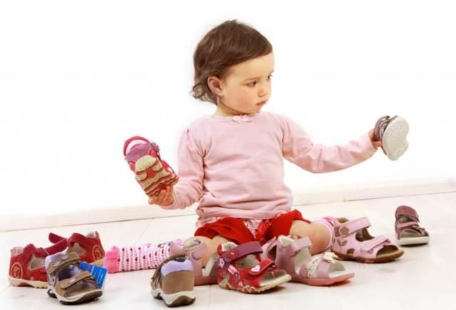 Размер обуви для детей по возрасту