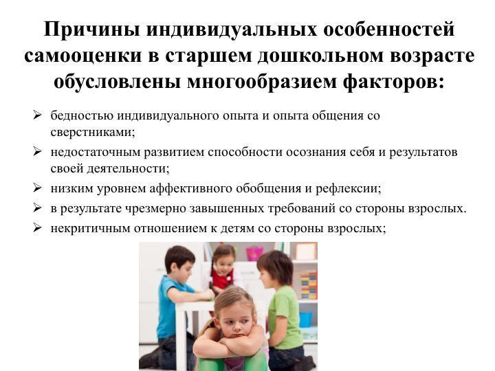 причины низкой самооценки у детей