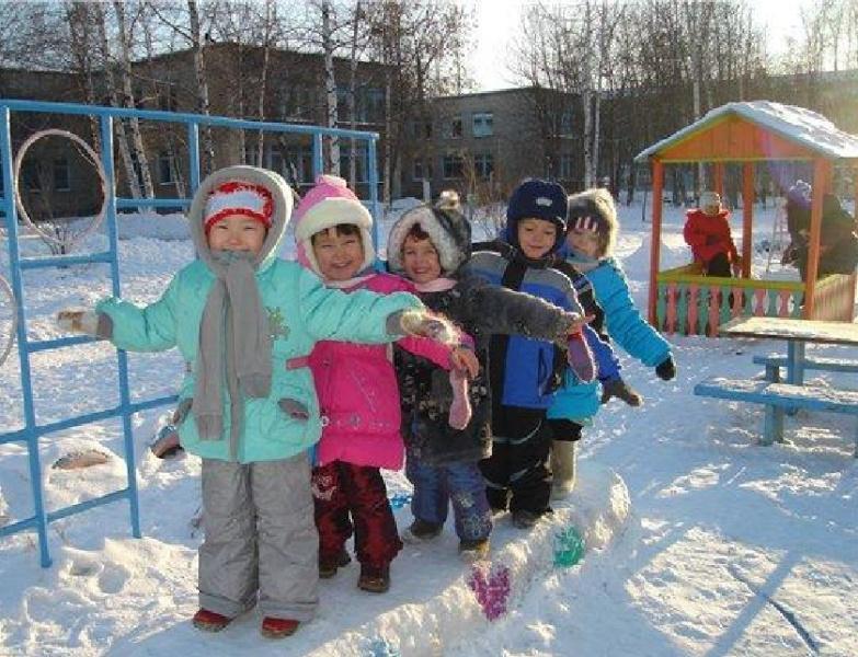 Организация прогулок зимой