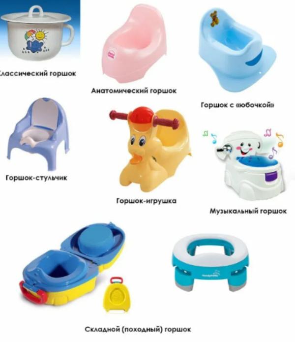 виды горшков для ребенка