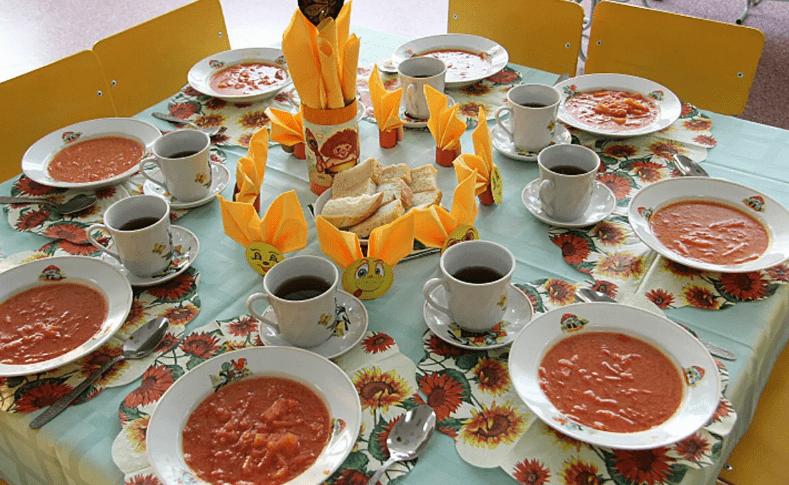 Организация питания детей сервировка